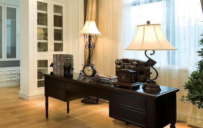 美式风格新古典书房效果图