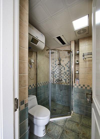 异域风美式小卫生间装潢效果图