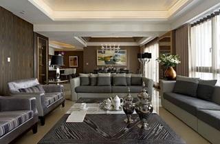 简单大气现代公寓室内客厅效果图