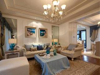 浪漫唯美欧式客厅吊顶效果图