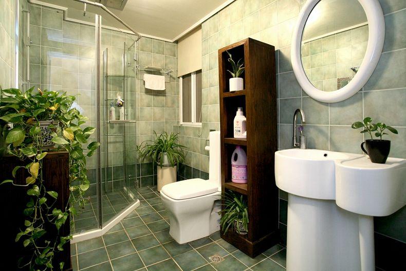 美式复古风洗手间效果图