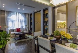 清爽现代中式别墅室内设计效果图