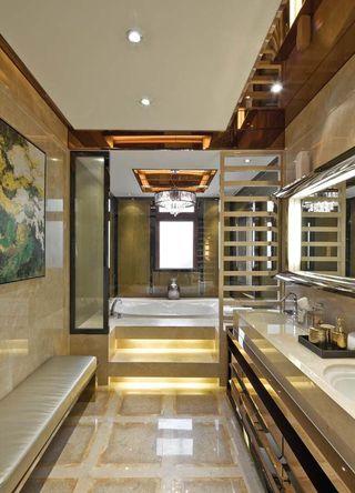 富丽堂皇现代豪华别墅卫生间室内设计装饰效果图