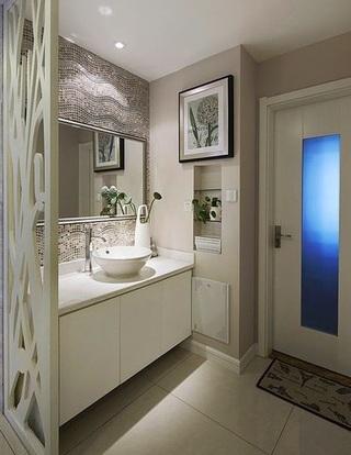 时尚唯美现代风洗手间效果图