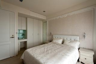 纯白浪漫简欧风格二居室卧室装饰效果图