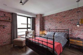 美式乡村卧室文化砖墙面效果图