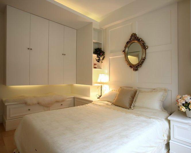 简约北欧风卧室白色衣柜效果图