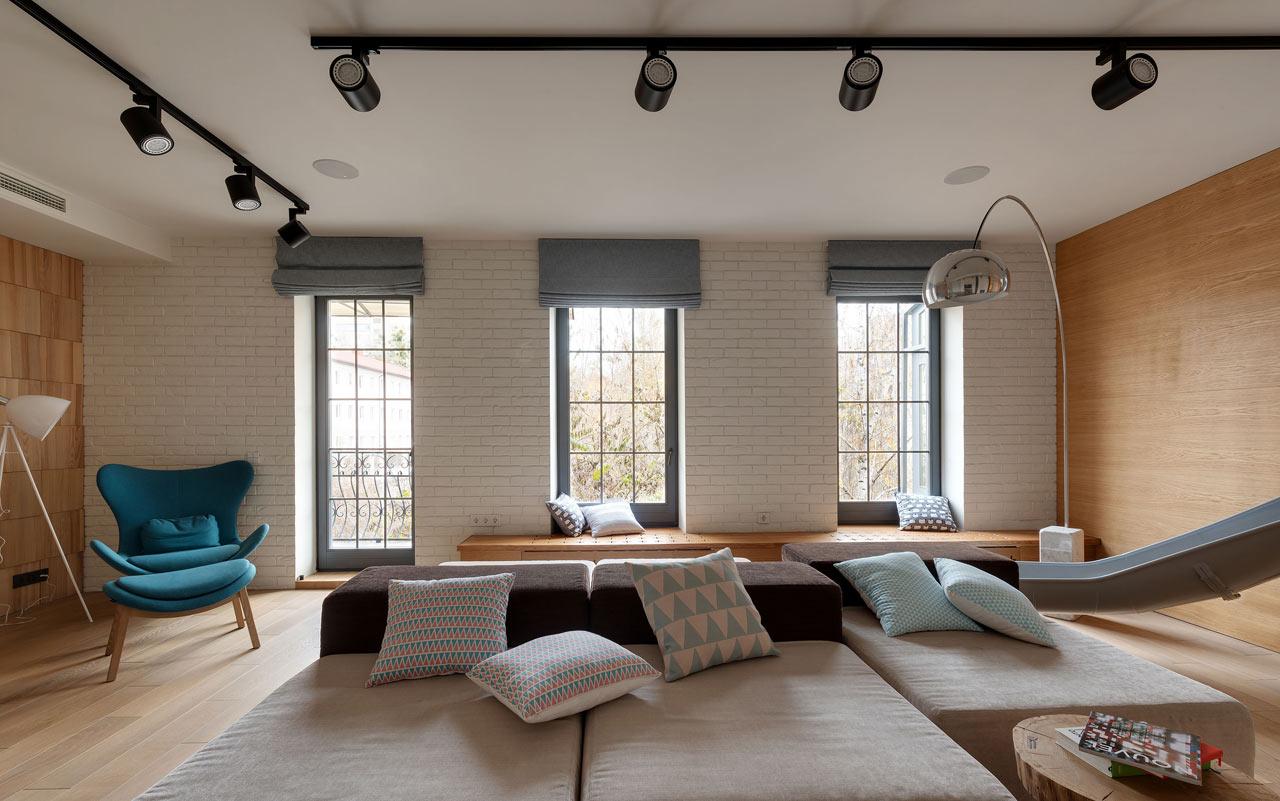 森系日式北欧混搭客厅窗户效果图