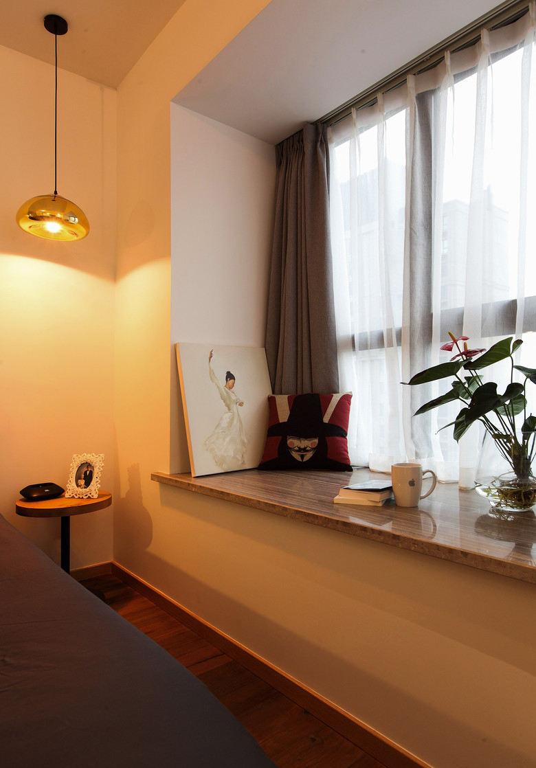 北欧风格家居卧室飘窗装修设计效果图