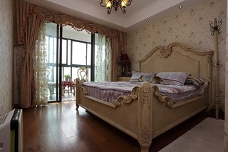 华丽欧式复古卧室小阳台设计效果图