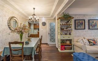 悠闲自然田园风格美式餐厅装饰效果图