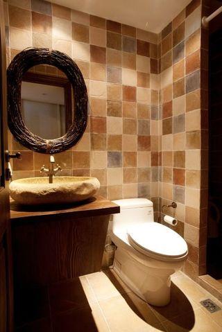 时尚欧式古典复式卫生间台盆效果图片