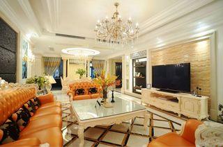 复古欧式混搭客厅电视背景墙效果图