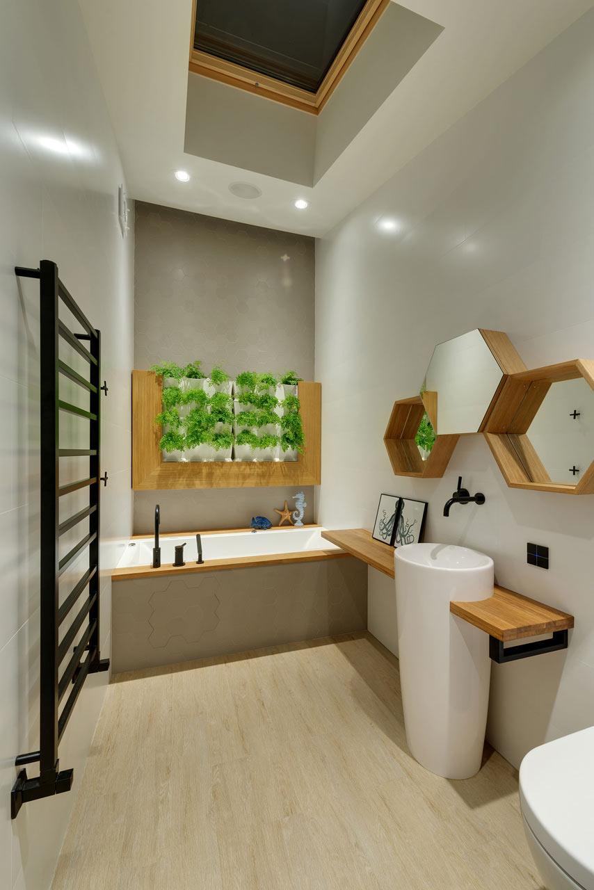 清新简约创意洗手间效果图