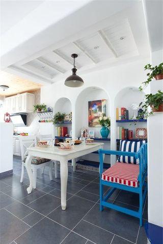 地中海风格餐厅特色拱形隔断效果图