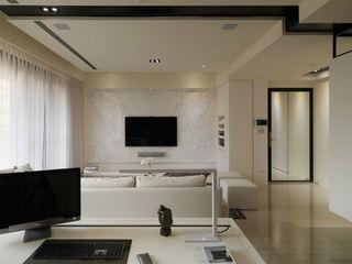 时尚简约风格客厅电视大理石背景墙案例图