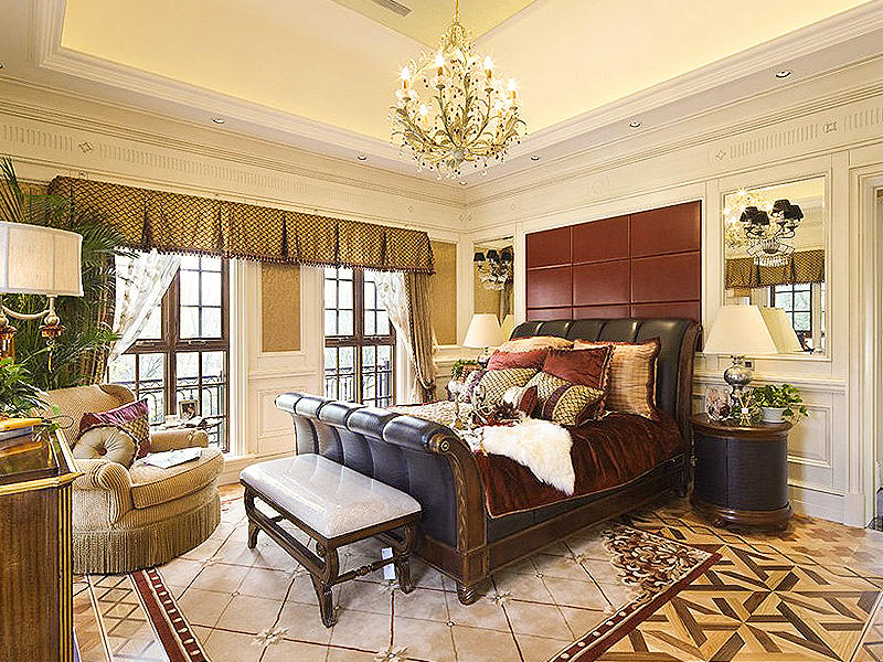 经典华丽复古欧式田园卧室装饰效果图