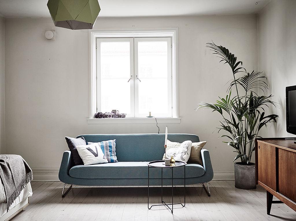 简约清爽小客厅沙发效果图