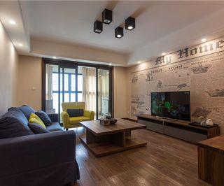 简约复古美式客厅电视背景墙效果图