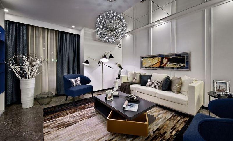 时尚后现代客厅沙发背景墙设计