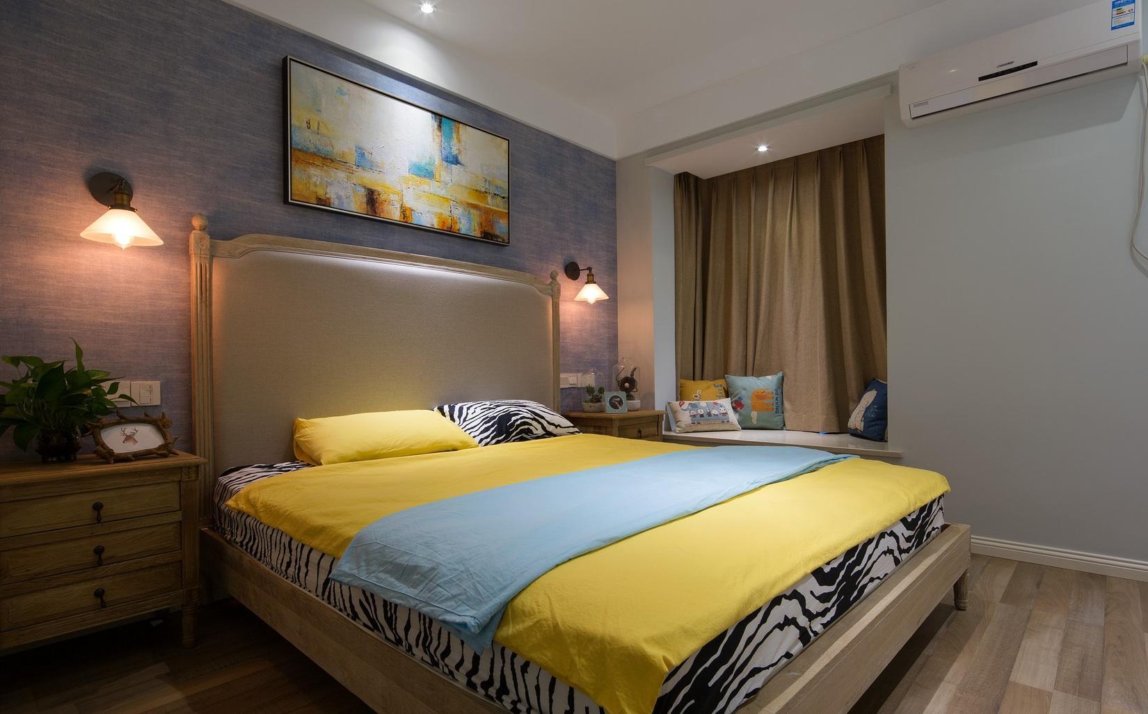 多彩时尚现代设计卧室效果图