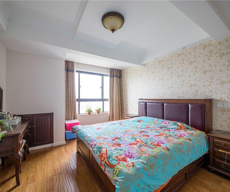 古典美式风格卧室软装搭配效果图