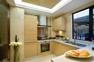 清新原木现代风格厨房设计效果图