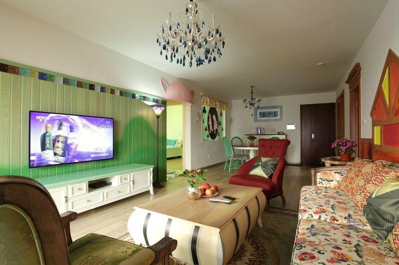 自然悠闲田园风格四居室设计案例效果图