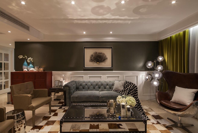 经典美式复古风三居室跃层效果图