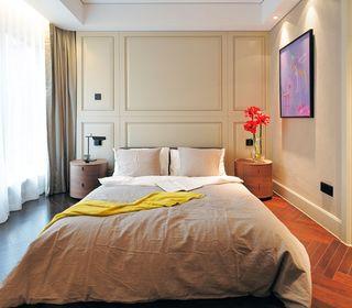 简约现代卧室背景墙设计图片案例