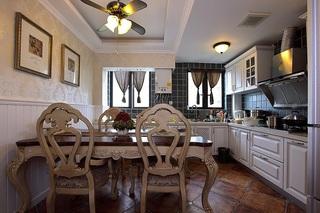 通畅欧式复古餐厨房整体设计装潢效果图
