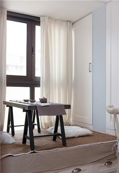 简洁浪漫美式窗台榻榻米设计效果图