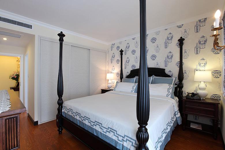 温馨时尚美式三居卧室装潢设计