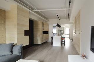 现代简约室内餐厅黄色背景墙效果图