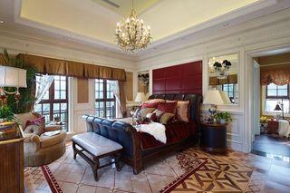 豪华欧式风格别墅卧室软装搭配效果图