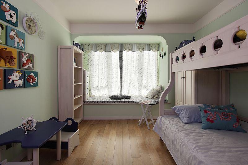 清脆地中海风格儿童房飘窗台面设计效果图
