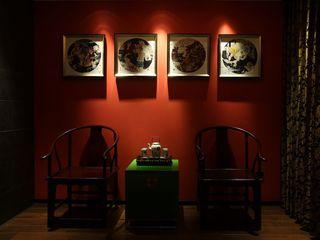现代中式风格家居相片墙效果图片