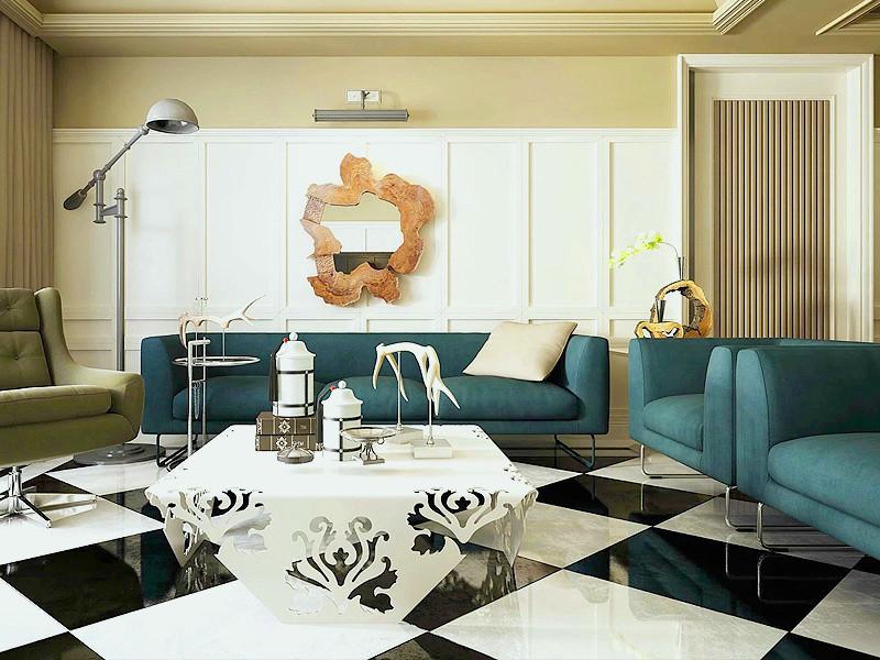 个性化现代创意家居装修客厅背景墙