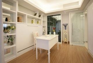 简洁田园风公寓室内书房设计装潢效果图