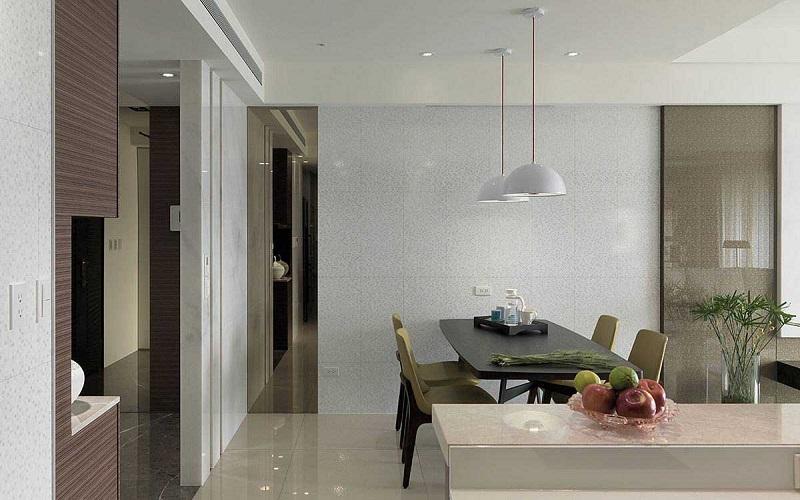 安静祥和简约现代餐厅吊灯设计图