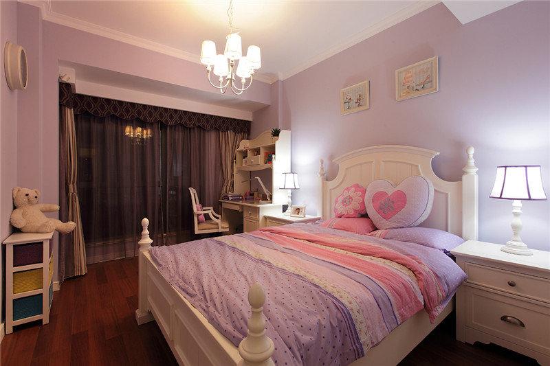 粉紫色甜美田园公主房
