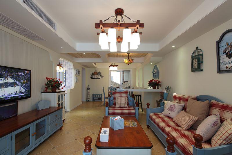 蓝色清新地中海风格复式家居设计搭配欣赏图