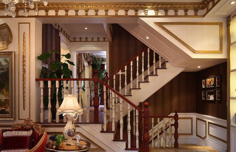 豪华欧式古典风格楼梯效果图