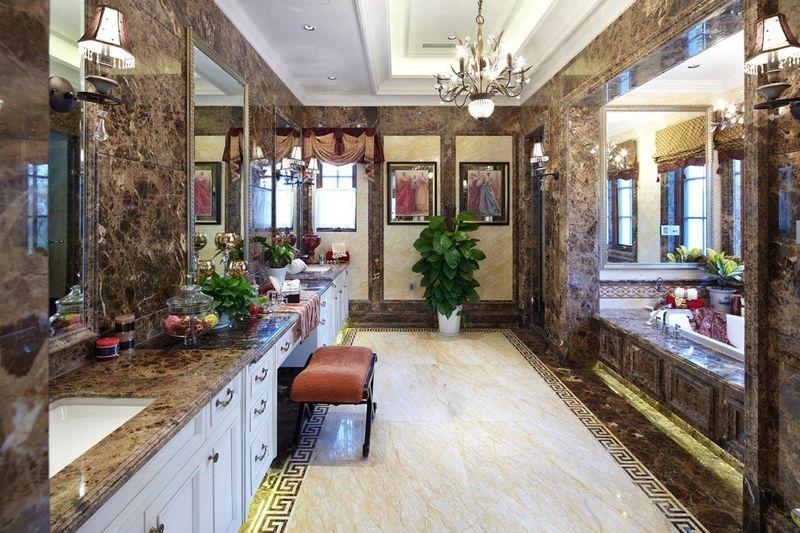 时尚豪华欧式风格别墅室内浴室设计装潢效果图