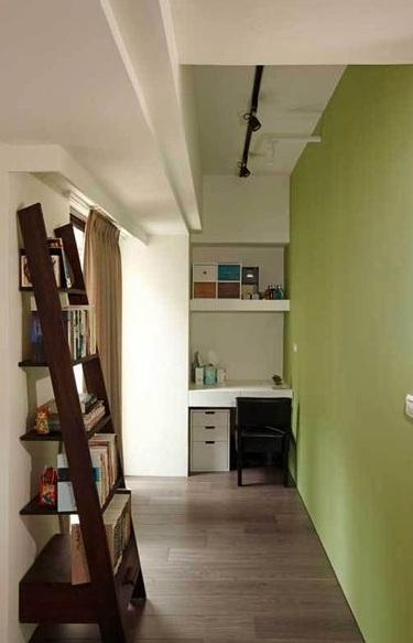 简约清新小书房设计效果图
