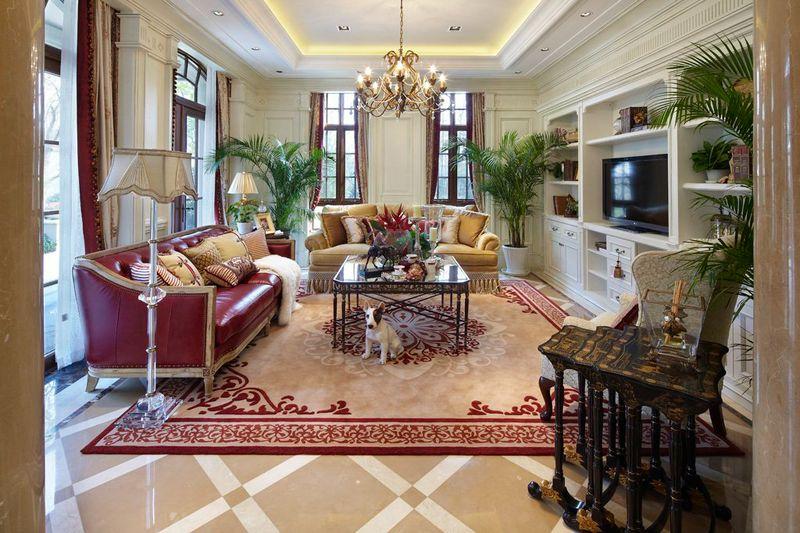豪华欧式风格别墅室内客厅装潢设计图片