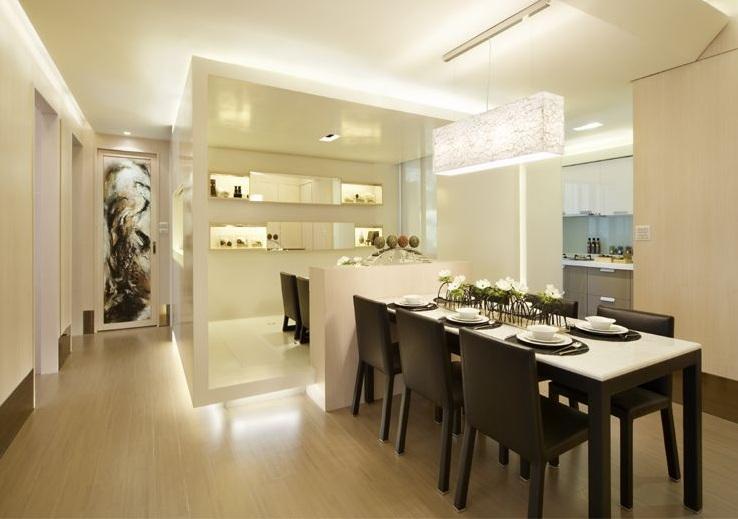 现代简约风格三居餐厅设计装修案例图片