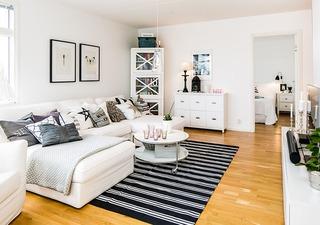 48平清新宜家北欧风一居室小公寓效果图