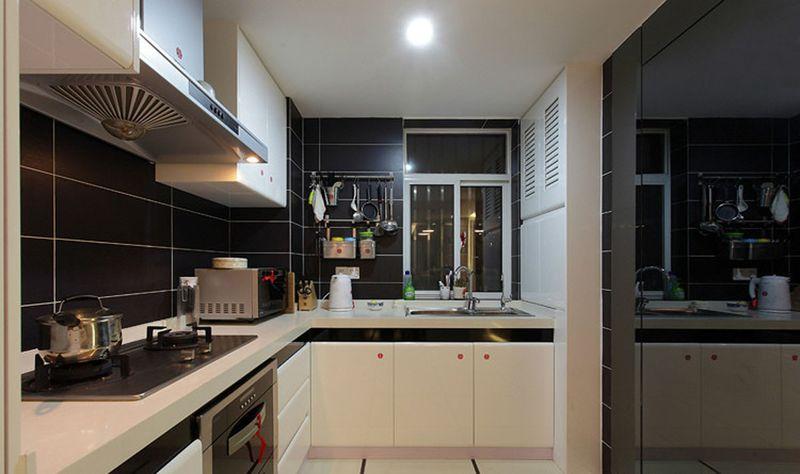 时尚黑现代厨房设计效果图