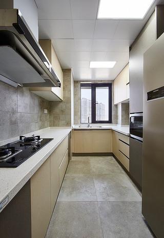 10平米美式u型厨房设计装修欣赏图